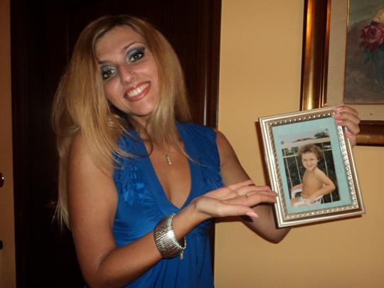 L' ''altra'' Franca (quella liscia) con la foto di quando aveva 4 anni