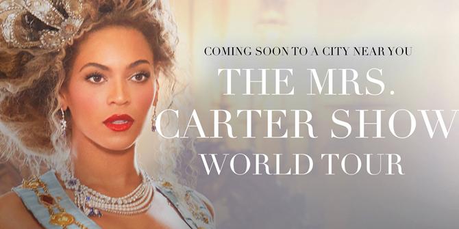 Beyonce super riccia nella locandina del tour 2013