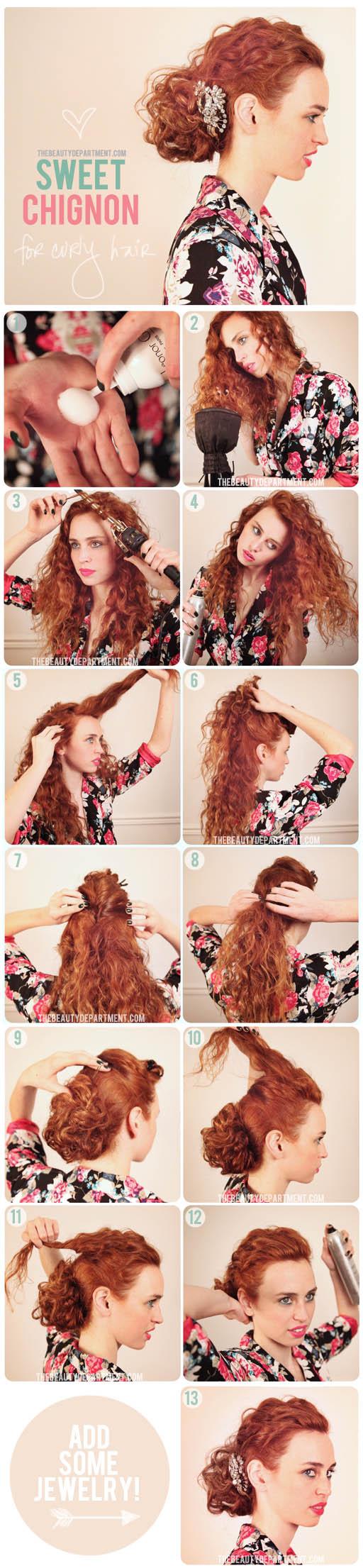 Tutorial acconciature capelli ricci medi