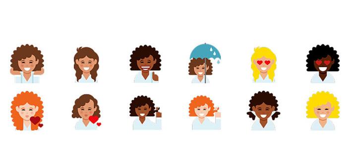 Finalmente delle Emoticon con i capelli ricci